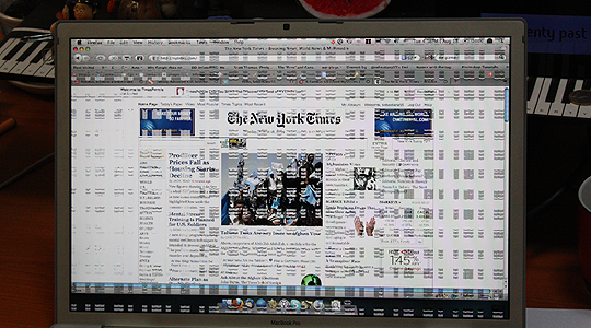 NY Times & Scrambled Mac Screen